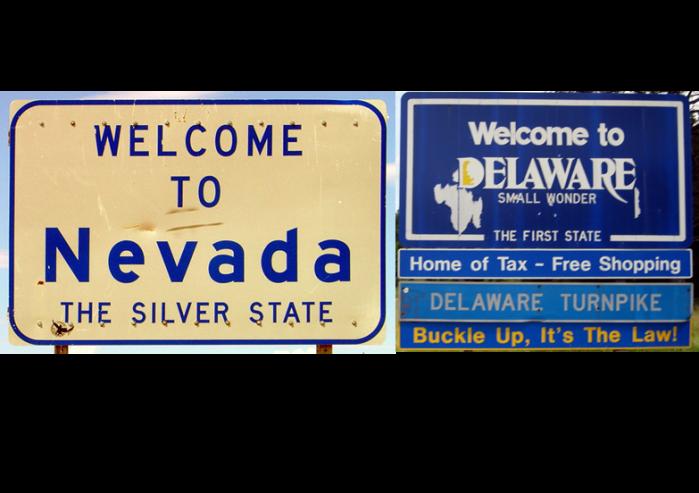 Why do businesses incorporate in Delaware orNevada?